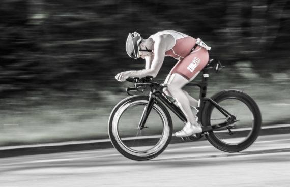 Radfahrer Thumsee Triathlon 2017